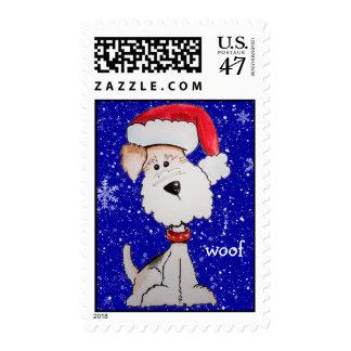 Santa Fox Terrier Postage