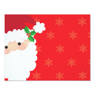 Santa Frame 4.25x5.5 Paper Invitation Card