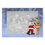 Santa frame Christmas template Card