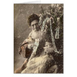 Santa - France early 1900s #X041 Greeting Cards