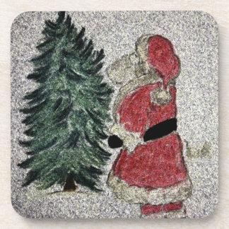 Santa Fresco Drink Coaster
