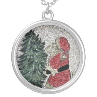 santa fresco silver plated necklace
