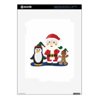 Santa & Friends iPad 3 Decals