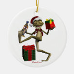 Santa Frog Hoppy Holidays Christmas Ornament