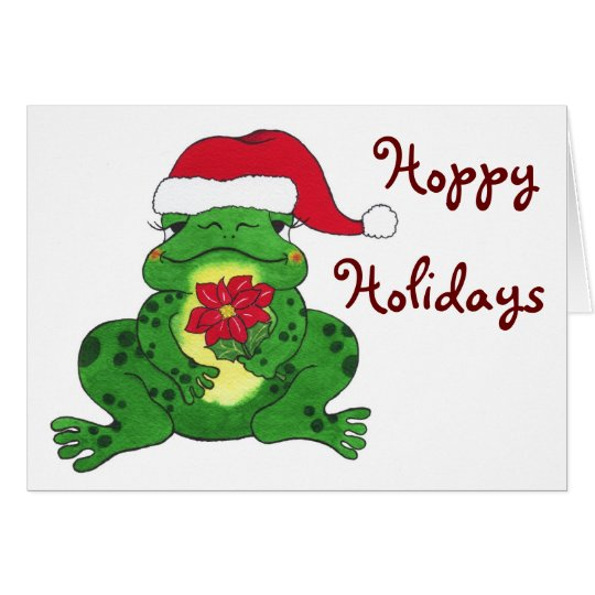 Santa Frog - Hoppy Holidays Greeting Card