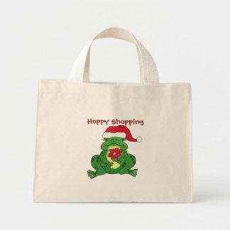 Santa Frog Hoppy Shopping - Bag