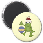 Santa Frog with Ornament Tshirts and Gifts Refrigerator Magnet