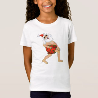 Santa frolicking in swimming trunks. T-Shirt