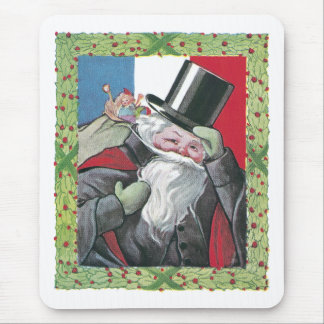 Santa From France Mouse Pad