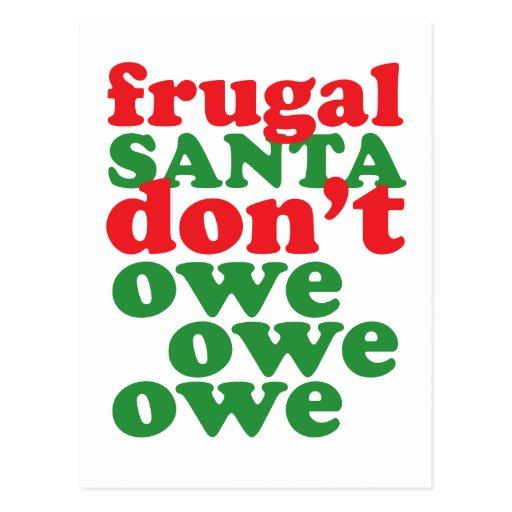 Santa frugal no debe debe debe postal