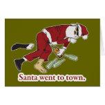 Santa fue a la tarjeta de la ciudad