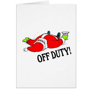 Santa fuera de servicio (bebido) tarjeta de felicitación