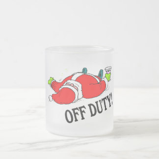 Santa fuera de servicio (bebido) taza cristal mate