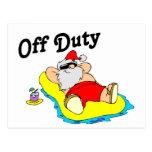 Santa fuera de servicio (el tomar el sol) tarjetas postales