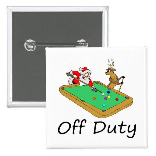 Santa fuera de servicio (que juega al billar) pin
