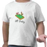 Santa fuera de servicio (que juega al billar) camisetas