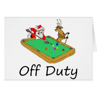 Santa fuera de servicio (que juega al billar) tarjeta de felicitación