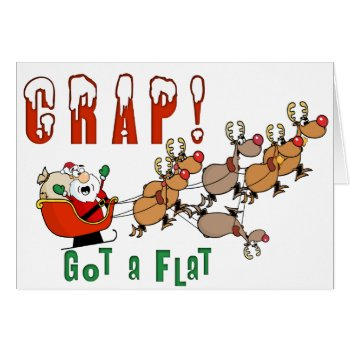 Santa Funny Christmas Card