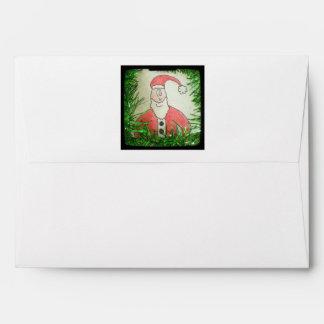 Santa Funny Christmas Drawing Envelope