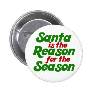 Santa funny christmas humor parody 2 inch round button
