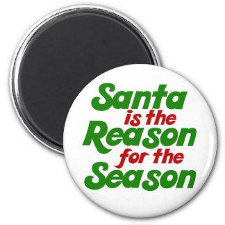 Santa funny christmas humor parody 2 inch round magnet