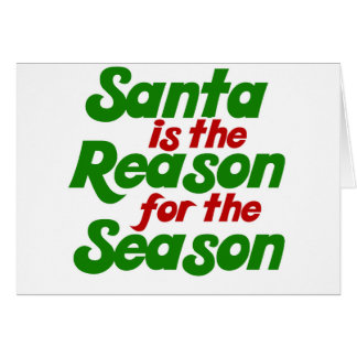 Santa funny christmas humor parody greeting card