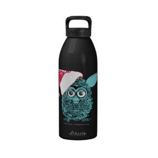Santa Furby Botella De Agua Reutilizable