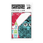 Santa Furby Postage Stamps