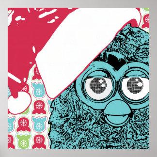 Santa Furby Poster