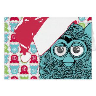 Santa Furby Tarjeta De Felicitación