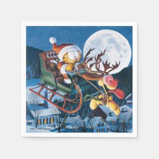 Santa Garfield and Rudolph Odie Napkin