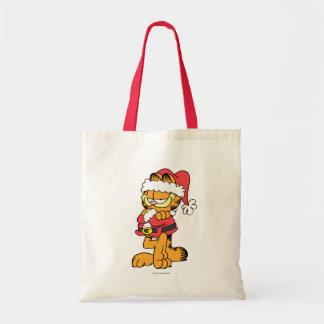 Santa Garfield Tote Bag
