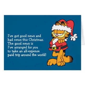 Santa Garfield Card