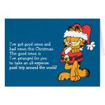 Santa Garfield Greeting Cards