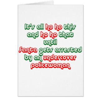 Santa Gets Arrested Card