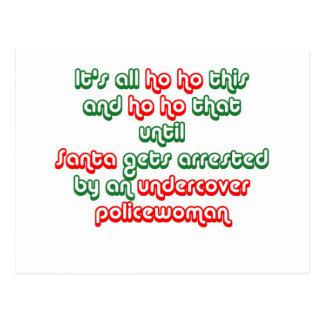 Santa Gets Arrested Postcard