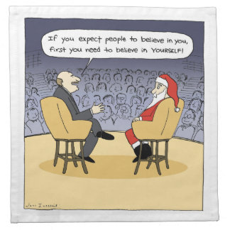 Santa Gets Some Advice - Christmas Therapy Napkin