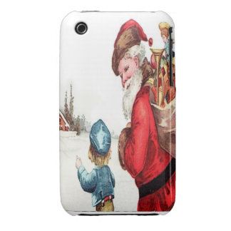 Santa Getting Directions iPhone 3 Case