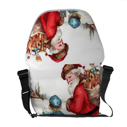 Santa Getting Directions Commuter Bags