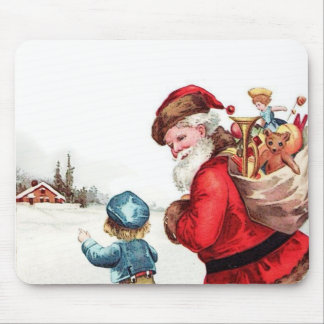 Santa Getting Directions Mouse Pad