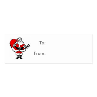 Santa Gift Tag Card Double-Sided Mini Business Cards (Pack Of 20)