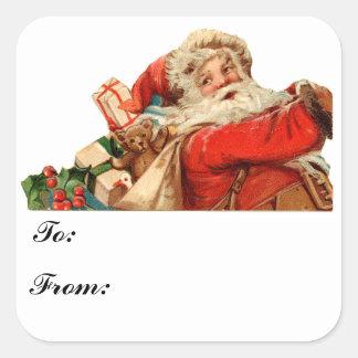 Santa Gift Tag Sticker