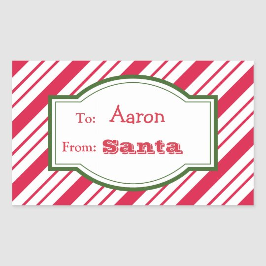 santa gift tag stickers zazzle com