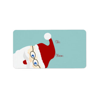Santa Gift Tags Personalized Address Label