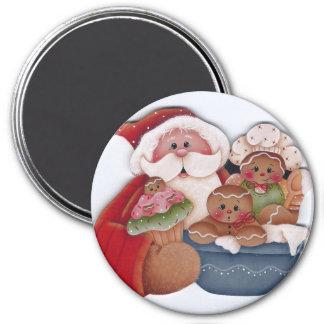 Santa & Gingerbread Cupcake Bakers Magnet