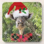 Santa Giraffe Drink Coaster