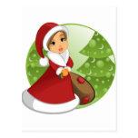 santa girl2 postal