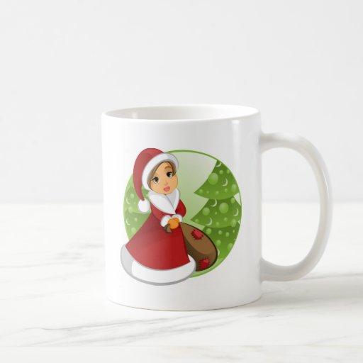 santa girl2 taza de café