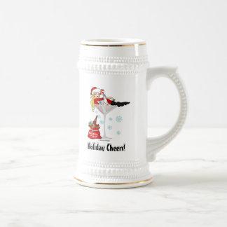 Santa Girl Martini Beer Stein
