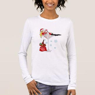 Santa girl martini long sleeve T-Shirt